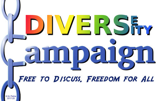 Diverse Diversity Campaign - Free to discuss. Freedom for all